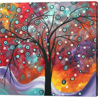 Metaverse Art Snow Fall Gallery Wrapped Canvas Wall Art