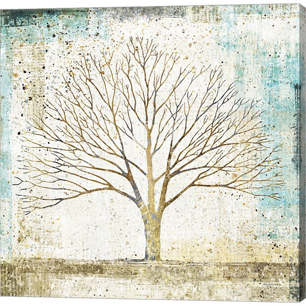 Metaverse Art Solitary Tree Collage Gallery Wrapped Canvas Wall Art