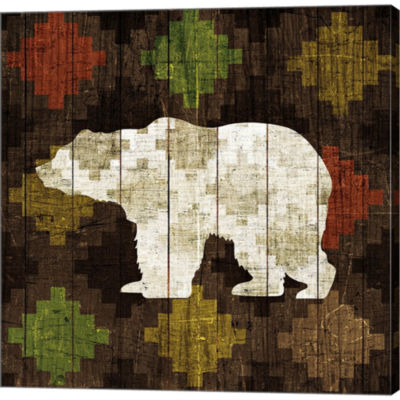 Southwest Lodge - Bear Gallery Wrapped Canvas WallArt On Deep Stretch Bars