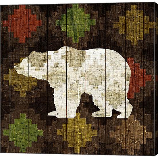 Metaverse Art Southwest Lodge Bear Gallery WrappedCanvas Wall Art