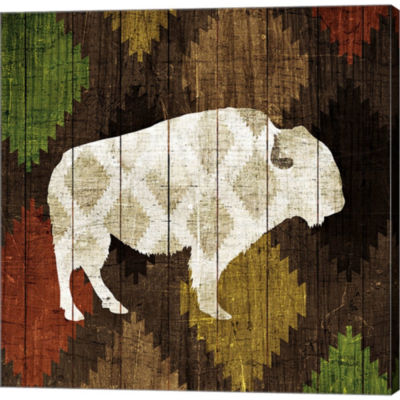 Metaverse Art Southwest Lodge - Buffalo Gallery Wrapped Canvas Wall Art