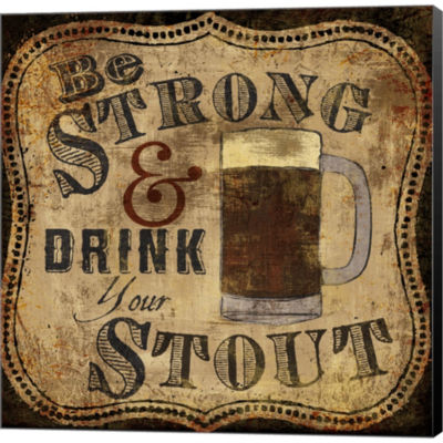 Metaverse Art Strong And Stout Gallery Wrapped Canvas Wall Art