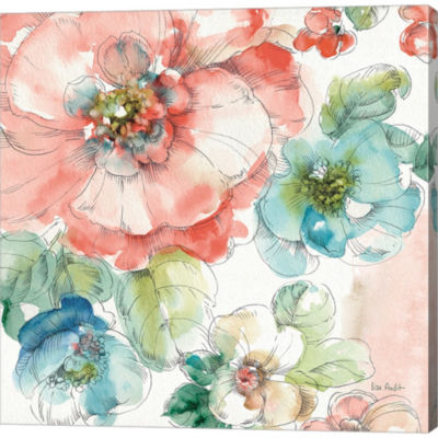 Summer Bloom II Gallery Wrapped Canvas Wall Art OnDeep Stretch Bars