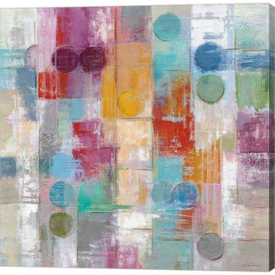 Metaverse Art Summer Rain Gallery Wrapped Canvas Wall Art
