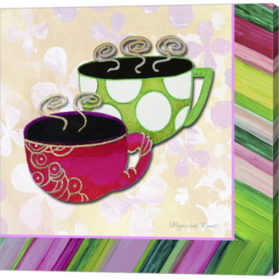 Metaverse Art Tea Party I Gallery Wrapped Canvas Wall Art