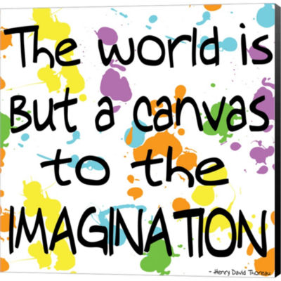 Metaverse Art The World Is But A Canvas Gallery Wrapped Canvas Wall Art