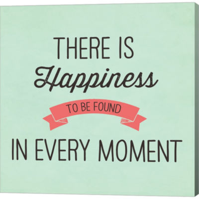 There Is Happiness Gallery Wrapped Canvas Wall ArtOn Deep Stretch Bars