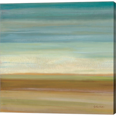 Metaverse Art Turquoise Horizons I by Cynthia Coulter Gallery Wrapped Canvas Wall Art