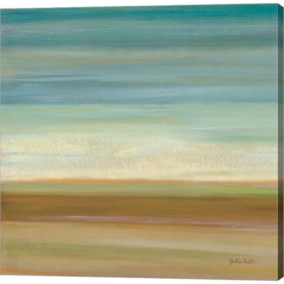 Metaverse Art Turquoise Horizons I Gallery WrappedCanvas Wall Art
