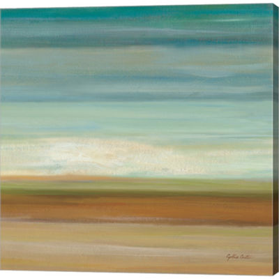 Metaverse Art Turquoise Horizons II Gallery Wrapped Canvas Wall Art