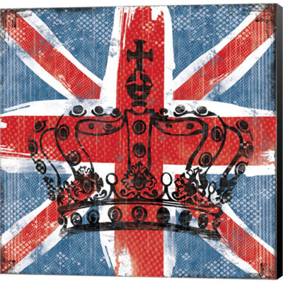 Metaverse Art Union Jack Crown 2 Gallery Wrapped Canvas Wall Art