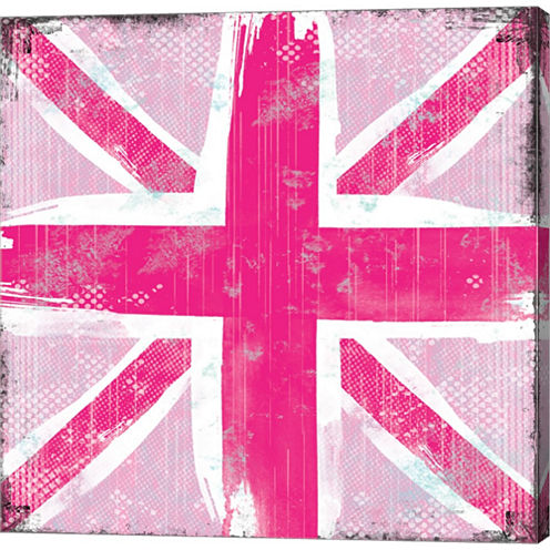 Union Jack Gallery Wrapped Canvas Wall Art On DeepStretch Bars