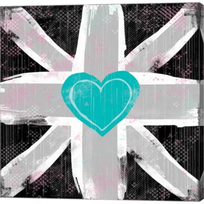 Metaverse Art Union Jack Heart II Gallery WrappedCanvas Wall Art