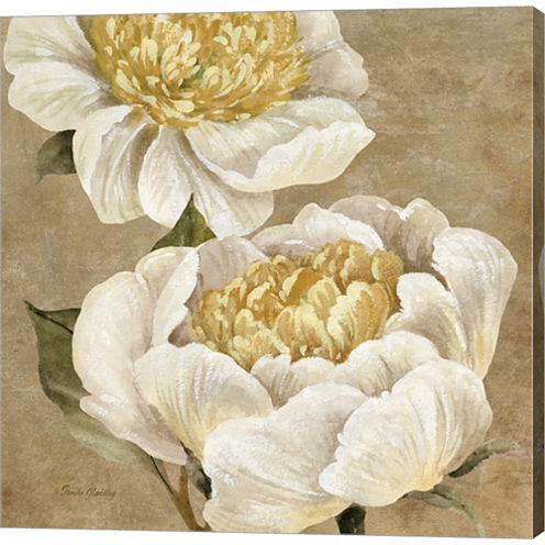 Up Close Cream Peony by Pamela Gladding Gallery Wrapped Canvas Wall Art On Deep Stretch Bars