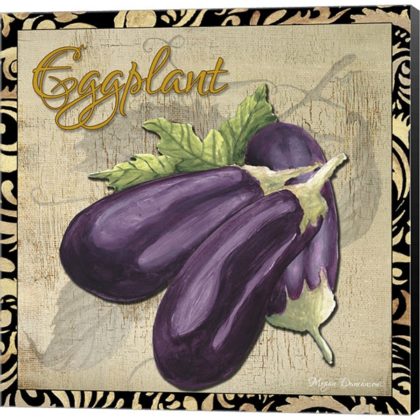 Metaverse Art Vegetables 1 Eggplant Gallery Wrapped Canvas Wall Art