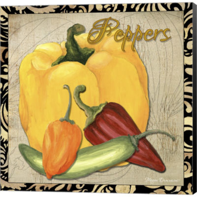 Vegetables 1 Peppers Gallery Wrapped Canvas Wall Art On Deep Stretch Bars