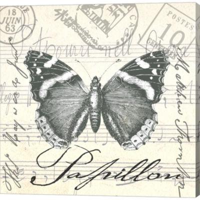 Metaverse Art Vintage Butterfly II Gallery WrappedCanvas Wall Art