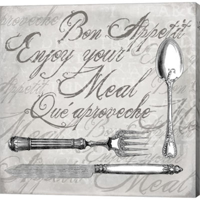 Metaverse Art Vintage Cutlery II Gallery Wrapped Canvas Wall Art