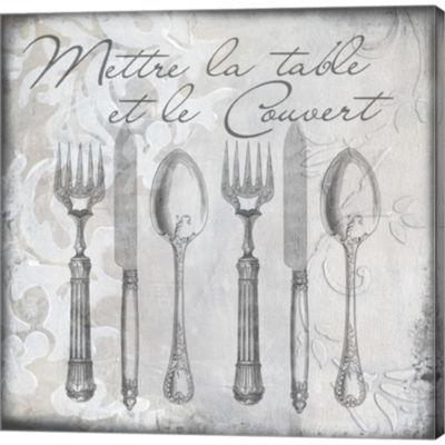 Metaverse Art Vintage Cutlery III Gallery WrappedCanvas Wall Art
