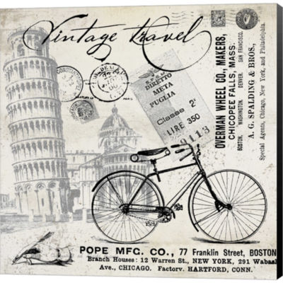 Metaverse Art Vintage Travel Italia I Gallery Wrapped Canvas Wall Art