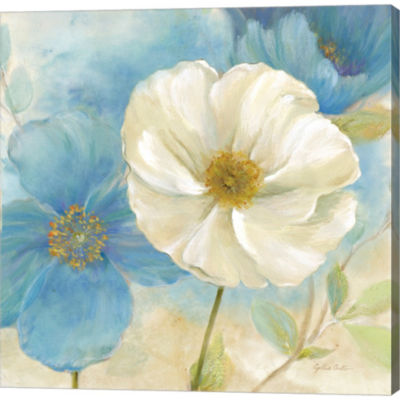Metaverse Art Watercolor Poppies I by Cynthia Coulter Gallery Wrapped Canvas Wall Art