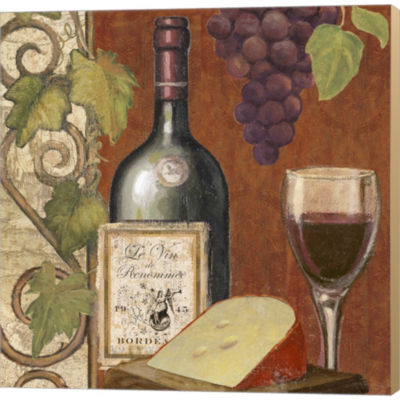 Wine And Cheese Tasting 4 Gallery Wrapped Canvas Wall Art On Deep Stretch Bars