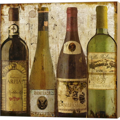 Metaverse Art Wine Samples Of Europe I Gallery Wrapped Canvas Wall Art