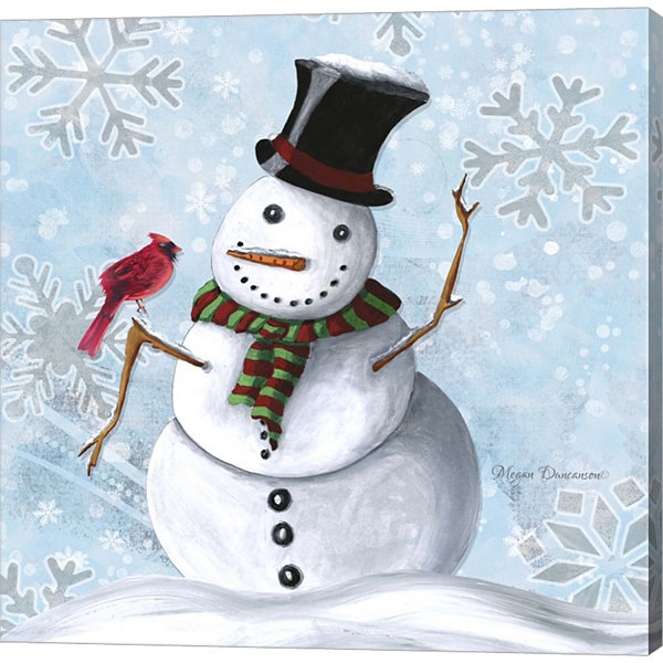 Metaverse Art Winter Cheer 1 Gallery Wrapped Canvas Wall Art