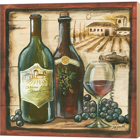Metaverse Art Wooden Wine Square I Gallery WrappedCanvas Wall Art