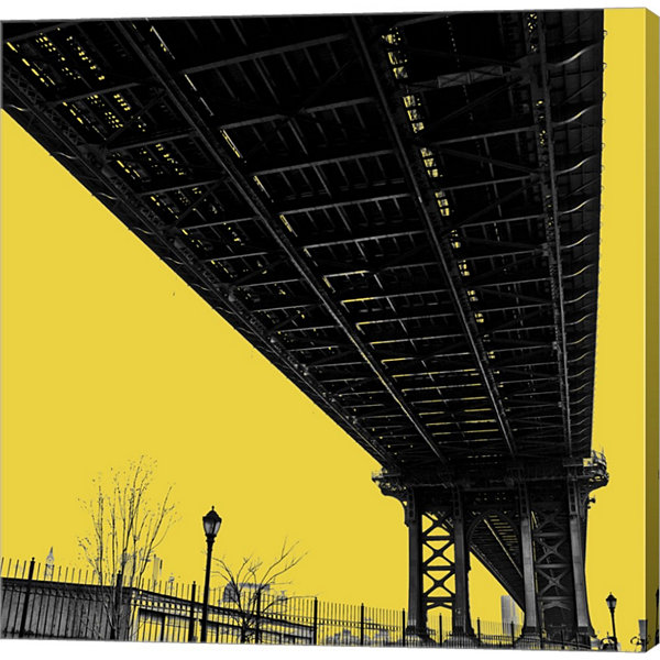 Metaverse Art Yellow Underpass Gallery Wrapped Canvas Wall Art