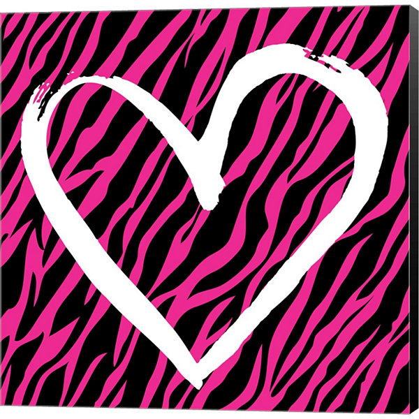 Metaverse Art Zebra Love 2 Gallery Wrapped CanvasWall Art