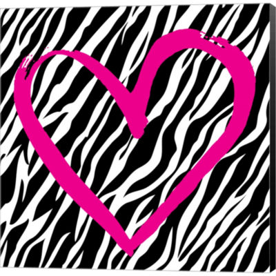 Metaverse Art Zebra Love Gallery Wrapped Canvas Wall Art