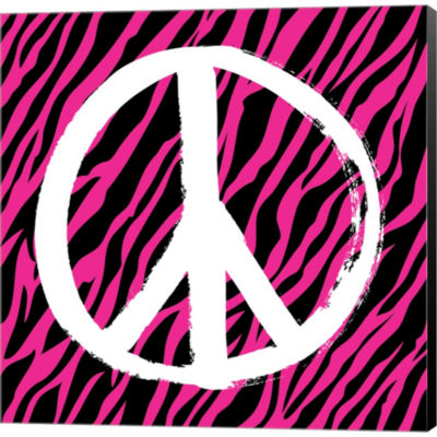 Metaverse Art Zebra Peace Gallery Wrapped Canvas Wall Art
