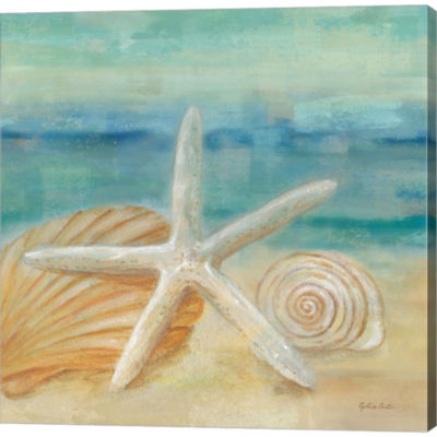 Metaverse Art Horizon Shells I Gallery Wrapped Canvas Wall Art