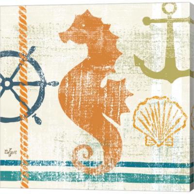 Metaverse Art Nautical Brights IV Gallery WrappedCanvas Wall Art