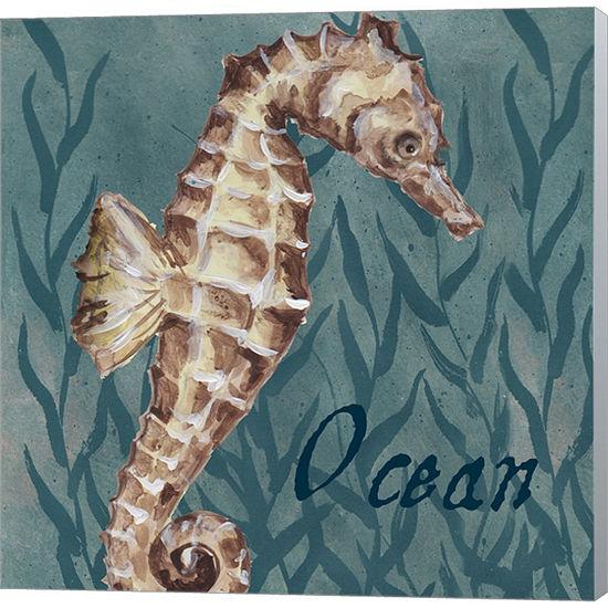 Metaverse Art Nautical Critters I Gallery WrappedCanvas Wall Art