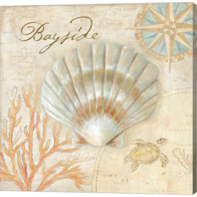 Metaverse Art Nautical Shells II Gallery Wrapped Canvas Wall Art