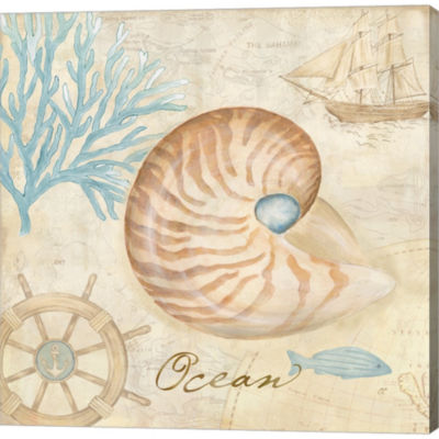 Metaverse Art Nautical Shells III Gallery WrappedCanvas Wall Art
