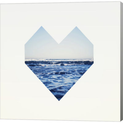 Metaverse Art Ocean Heart S6 Gallery Wrapped Canvas Wall Art