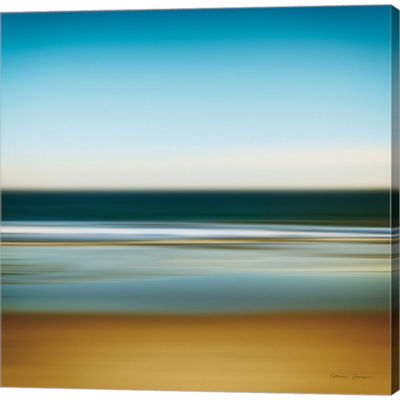 Metaverse Art Sea Stripes I Gallery Wrapped CanvasWall Art