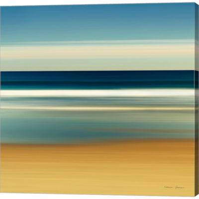 Metaverse Art Sea Stripes II Gallery Wrapped Canvas Wall Art