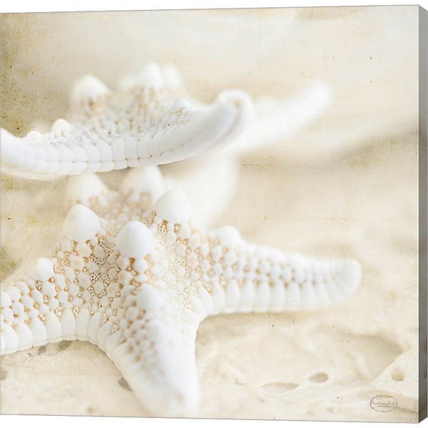 Metaverse Art Seashore Stars Gallery Wrapped Canvas Wall Art