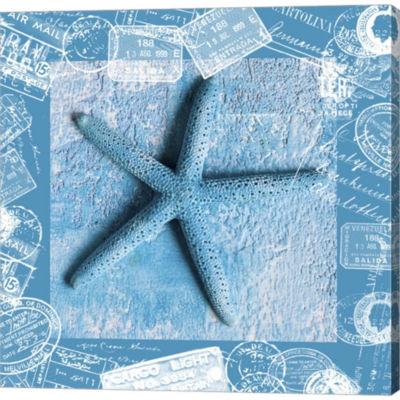 Metaverse Art Starfish Gallery Wrapped Canvas WallArt