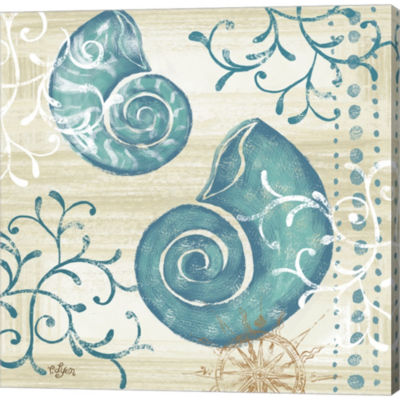 Metaverse Art Tranquil Shell II Gallery Wrapped Canvas Wall Art