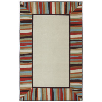 Mohawk Home Border Indoor/Outdoor Printed Rectangular Rugs