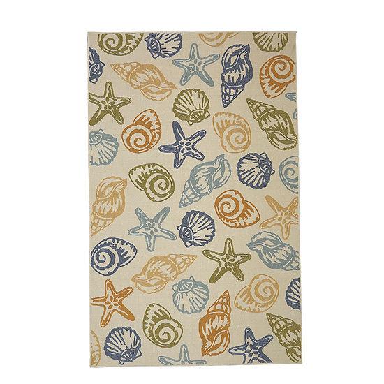 Mohawk Home Woodbridge Seashells Printed Rectangular Indoor Rugs