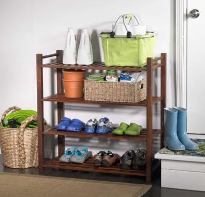 Northbeam 4-Tier Indoor/Outdoor Shoe Rack