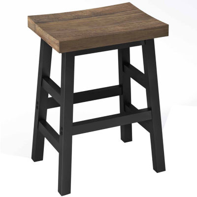 "Pomona Reclaimed Wood 26"" Counter Stool with Metal Legs"