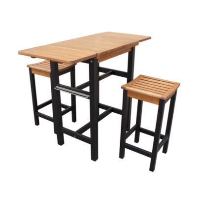 Northbeam Folding  3-pc. Kitchen Island Table and Stool Set