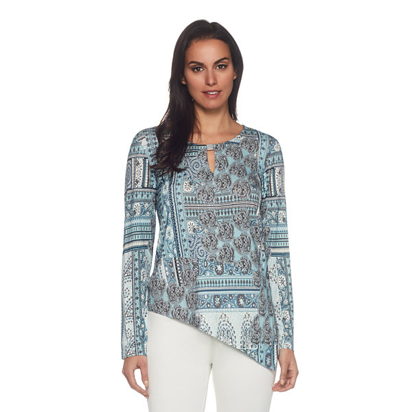 Skyes The Limit St. Mortiz Scarf Print Top- Plus